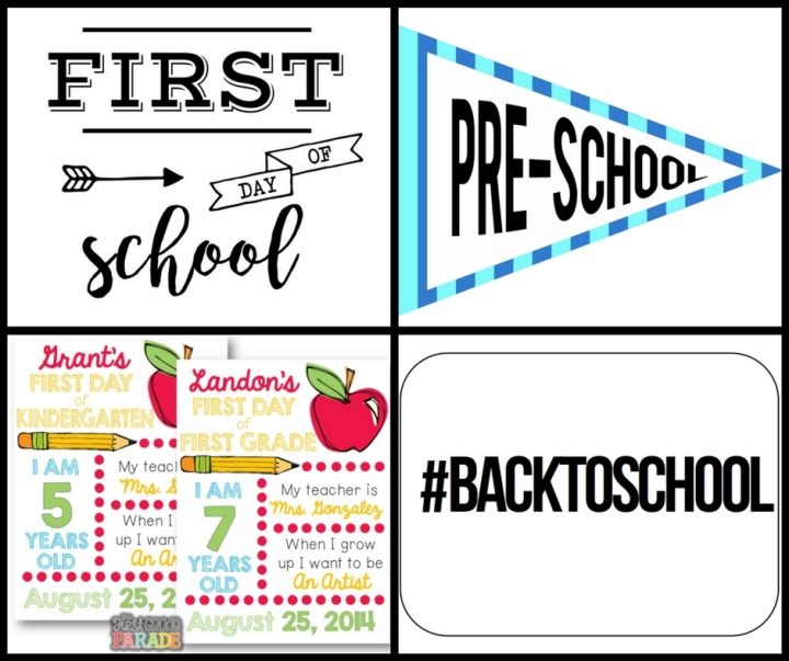 5 FREE Back-to-School Printable Signs